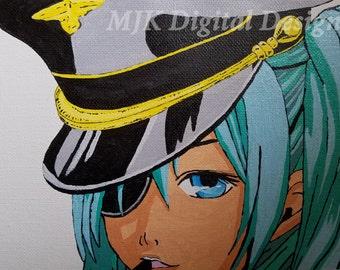 Anime Girl Acrylic Rendered Print