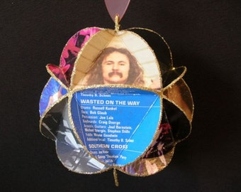 Crosby Stills Nash Young CSNY Album Cover Ornament Made Of Record Jackets