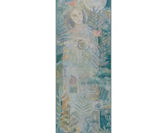 Painting on Canvas, Original Art , nature theme, 24 x 8 inches,home decor