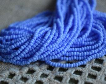 11/0 Hank Seed Opaque Light Blue Bead Preciosa Czech Glass Seed Beads