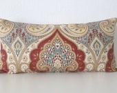 Latika Circus colorful medallion linen decorative pillow cover