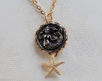 Mermaid Necklace, Mythical Lady, Under the Sea, Gift for Her