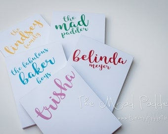 Marvelous Personalized Notepads - Custom Made