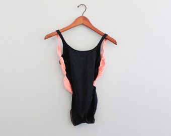 Vintage 90s Neon Orange swimsuit  by victoria Secret
