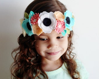 Felt Flower Crown // Full Felt Flower Crown // Flower Crown // Babies to Adults