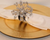 New Years Eve Burst/Christmas Napkin Rings Set of 8