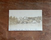 Antique Photo Postcard Undivided Back Bay View House Southport Maine Photocard Rhodes Bros. Postmarked 1907 Vintage Travel Paper Ephemera