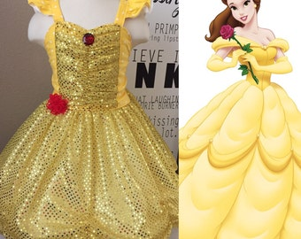 Girls Custom Boutique Belle Inspired Dress