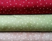 Red~Green~Beige~ with dots ~ Maywood Fabrics~ choose your fabric cut