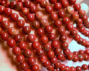 Apple Jasper - 10mm - 65 beads - full strand - RFG583