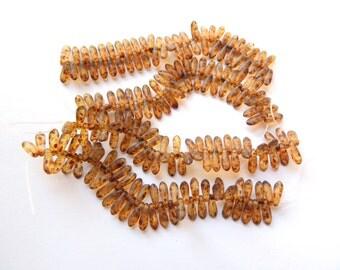 3x11 Dagger Beads Matte Crystal Picasso (50 beads) Czech Glass 311DG00030MP