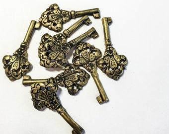 Edible Vintage Skeleton Keys -Chocolate Candy, Antique Inspired Keys - set of 12 -Vegan, No Soy, Won't Melt Candy