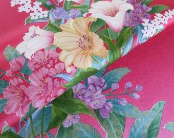 Japanese pure silk Pink Floral design 20-2