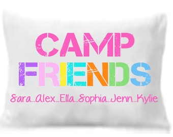 Camp Friends Pillow Case , Personalized Pillowcase,  Camp Friends Gift