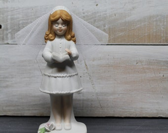 Enesco 1981 First Communion, Holy Communion Girl Figurine