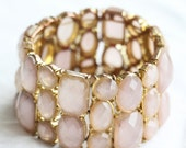 Blake, Vintage, Gold Crystal Bead, Bracelet, Cuff from Paris