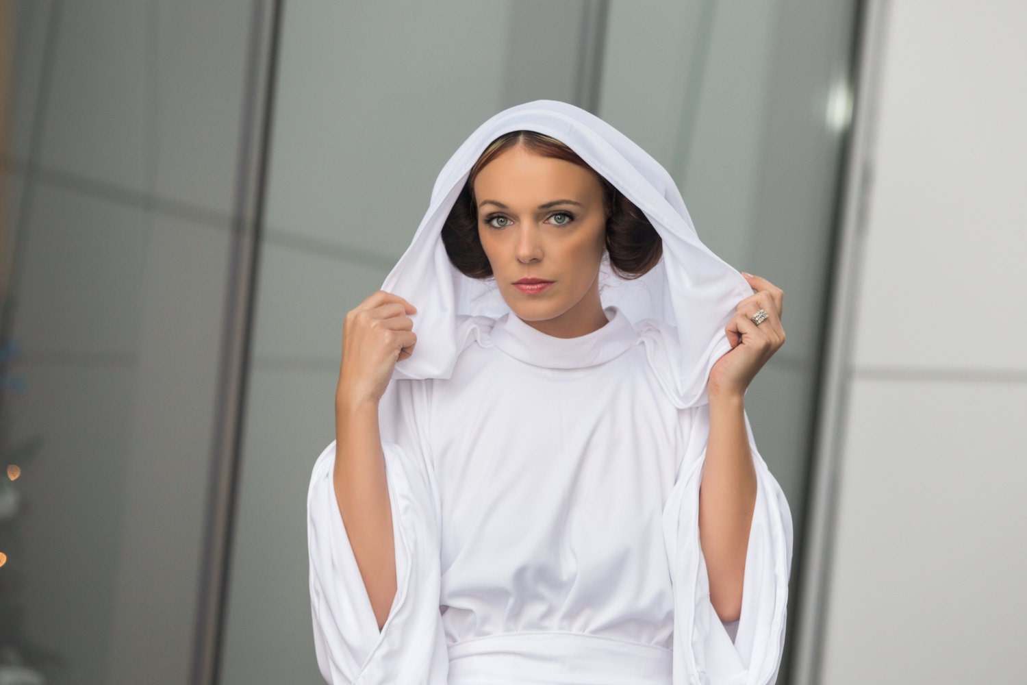 Princess Leia White Gown Star Wars Cosplay HalloweenEpisode