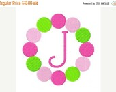 SALE INSTANT DOWNLOAD Spring Circle of Dots Machine Embroidery Monogram Design Set