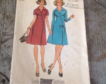 Vintage Simplicity Sewing Pattern 5912 Misses' Size 40 Bust 44 Coat Dress