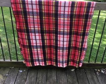 Vintage Lap Blanket Great Colors Lovely