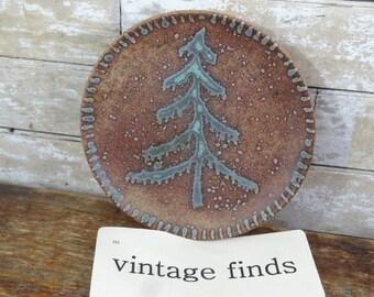 Vintage Pottery Plate Tree