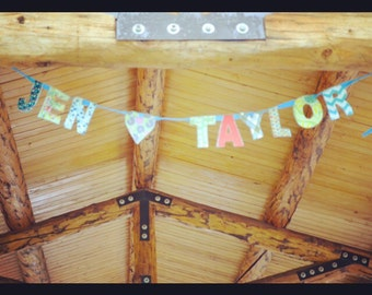 Custom Wedding Banner