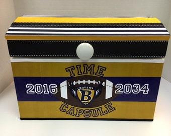 Time Capsule Storage Chest-Boys Baltimore Ravens Birthday