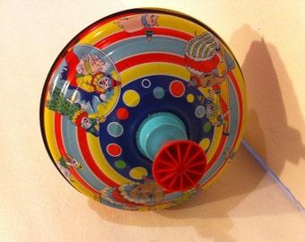 Vintage Metal and Plastic Toy Top