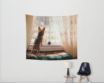 Wall Tapestry Wall Hanging Wall Art Yorkie Yorkshire Terrier