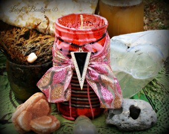 Dual Scent Ritual Candle; Hearth Magick Candle Blend, Dragons Blood and Wine, Blood Magick, Protection & Power Ritual Candle