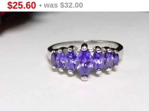 sterling silver ring crown of purple marquis by thejewelseeker