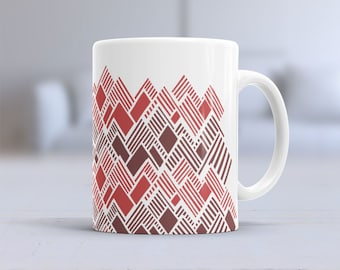 Minimal Mountain Range | Ceramic Mug | Coffee Mug