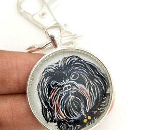 Custom Pet Keychain- Pet Portrait- Pet Painting- Custom Key chain- Pet Loss Gifts- Pet Memorial Gifts- Custom Pet Drawing- Pet Gift- Pet Art