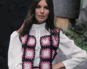 Vintage Crochet Suit Skirt and Fringed Top Pattern PDF 795 patterns from WonkyZebra