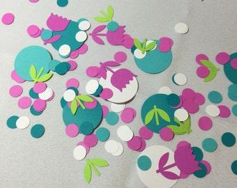 Hedgehog Party Decorations - Birthday Party Confetti -  Flower Confetti - Woodland Party - Celebration Confetti