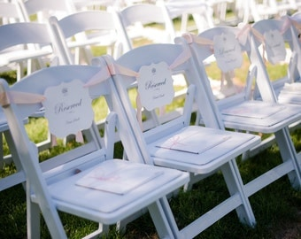 Reserved Wedding Chair Sign Seating Seat