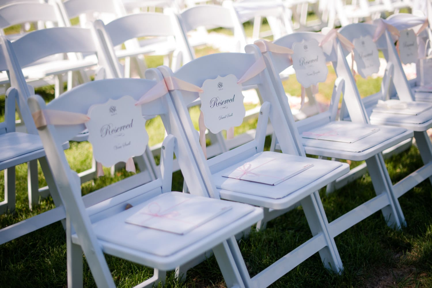 Reserved Wedding Chair Sign
