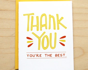 You're the Best Thank You Card
