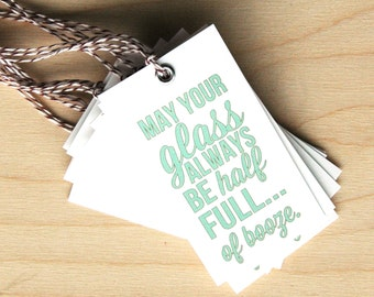 Glass Half Full - Gift Tags