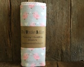 Receiving Blanket / Set of Two, Love Birds and white with pink polkadots