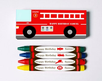 Firetruck Crayon Favors (Great Favors that won't end up in the trash)