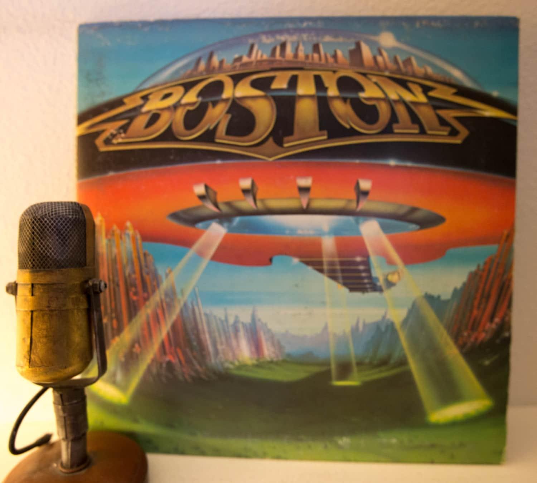 boston vinyl record album 1970s classic rock guitar electric. Black Bedroom Furniture Sets. Home Design Ideas