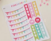 Weekend banners, flags and icons Coffee, lollipops on Matte paper planner stickers - functional and perfect for all planners #11