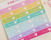 Brights holiday vacation countdown to holiday on Matte paper. planner stickers - functional and perfect for all planners