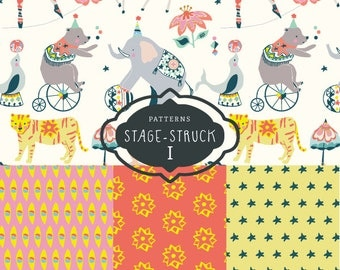 CLIP ART - Stage-Struck Pattern Collection I - for commercial and personal use
