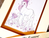 The Ceremony- Junicorn Limited Run Double Matted Print with Story Scroll