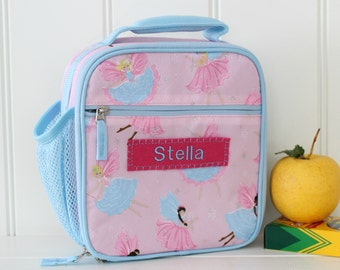 Lunch Bag With Monogram Classic Style Pottery Barn --Pink/Blue Fairy