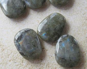 Labradorite Trapezoid Pendant, Gemstone Pendant, Craft Supply, Jewelry Making Beads, Labradorite Pendant, Bead Supply, Gray Black (1)