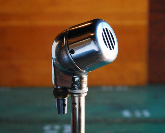 electro voice dynamic microphone model 605 classic 1940s harp. Black Bedroom Furniture Sets. Home Design Ideas
