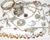 Vintage Destash Jewelry Craft Lot for wear resell repurpose or repair